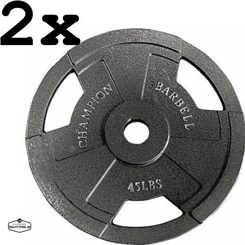 Olympic Weight Plates Set Pair 45 Pound 90 Lb 2 Inch Bar Lifting Equipment Grip #  sc 1 st  Pinterest & Olympic Weight Plates Set Pair 45 Pound 90 Lb 2 Inch Bar Lifting ...
