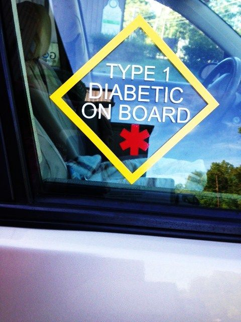 Type 1 Diabetes Car Stickers