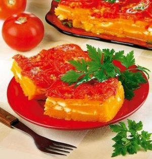 Layer pumpkin pie with cheese. Recipes with photos.