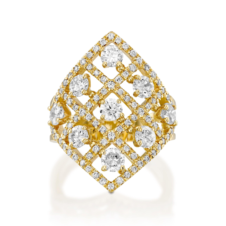Statement ringArt deco diamond ring280 ct Designer Diamond ring