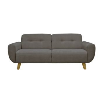 Canape Fixe 3 Places Tissu Gris Fonce Furniture Home Decor Couch
