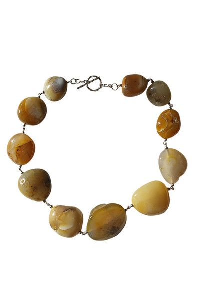 Marble-effect Stone Necklace