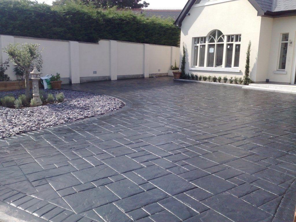 Concrete Supplies Ireland Imprinted Concrete Driveway Driveway Design Stamped Concrete Patio