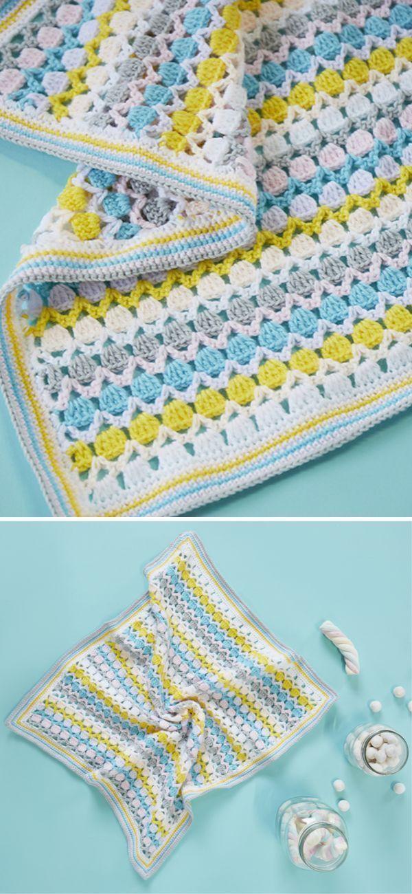 Photo of Bonbon Baby Blanket Crochet Pattern Dies ist ein kostenpflichtiges Muster, …