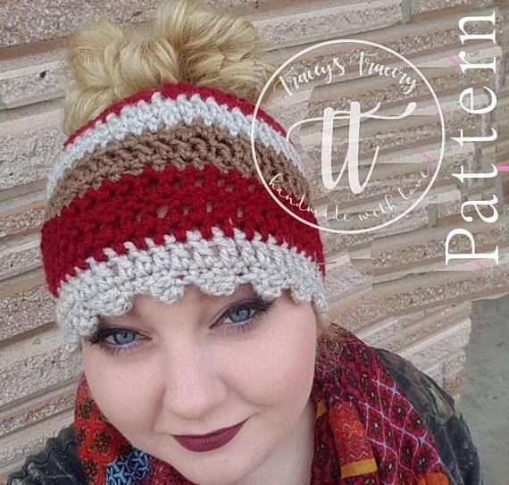 821c768dc9b0d Crochet Bun Beanie Pattern - Bun Beanie - Man Bun Beanie - Ponytail ...