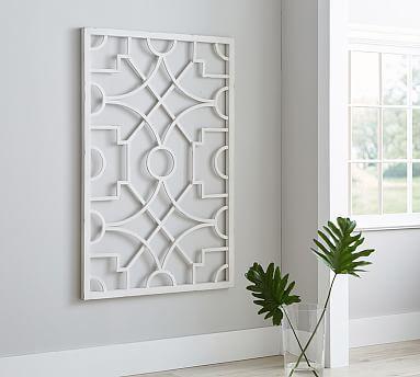 White Metal Wall Decor diy inspiration. daria metal wall art #potterybarn | art / wall