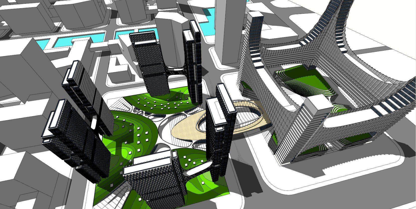 ☆Sketchup 3D Models-Skyscraper Sketchup Models | ☆Sketchup