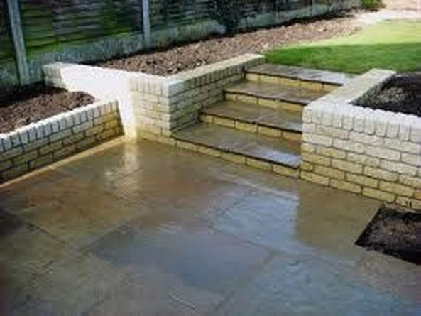 Patio And Walls By Potters Bar Paving, Patio Retaining Wall Ideas Uk