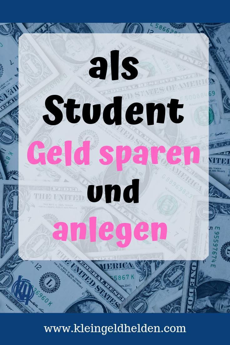 Sparen Und Anlegen Als Student Geld Tipps Fur Studenten Auszubildende Geld Sparen Geld Und Sparen