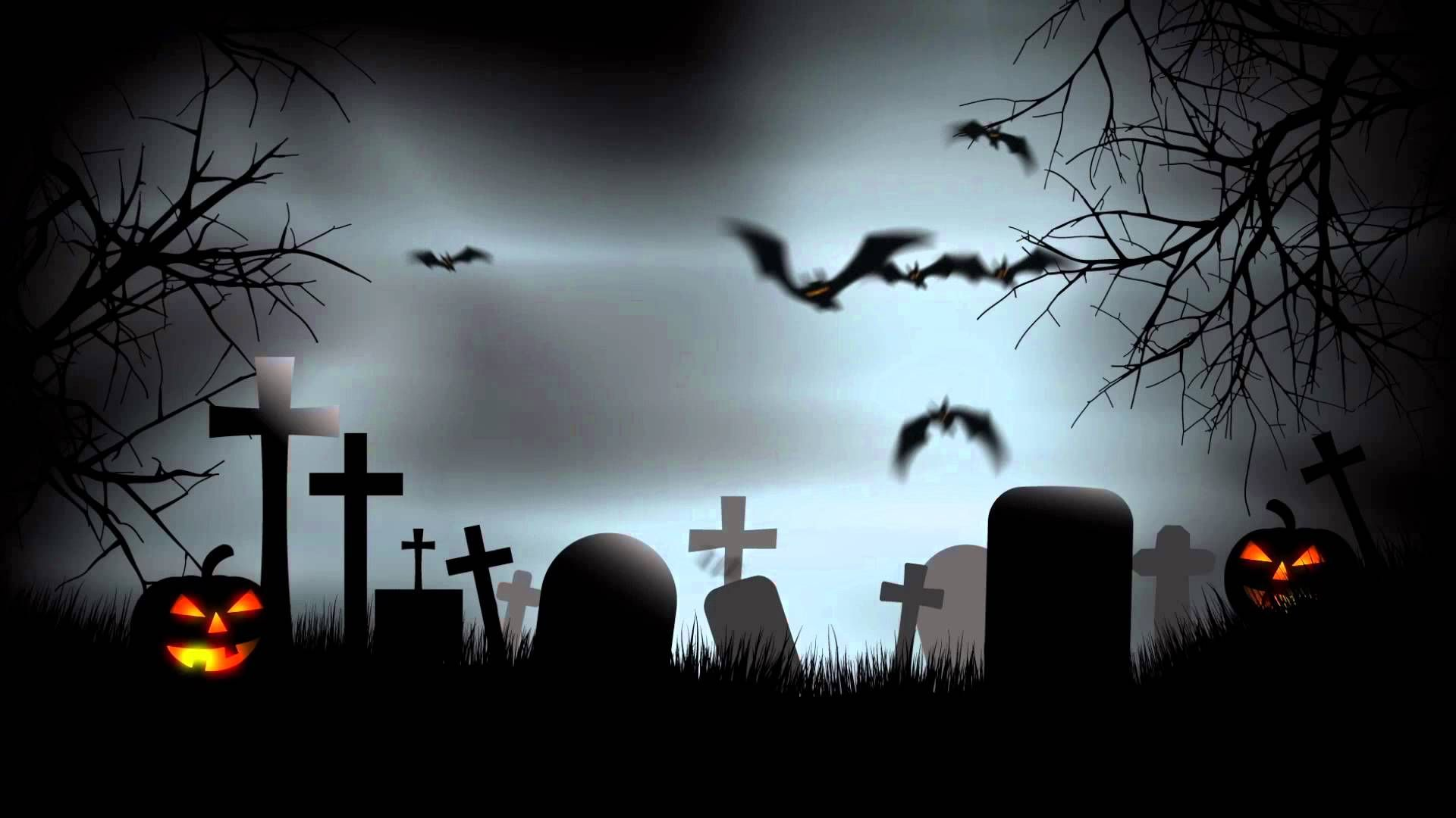 Halloween Graveyard Background After Effects
