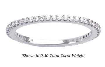Women S Diamond Eternity Ring Shared G Round Cut 0 30 Total Carat Weight Gh