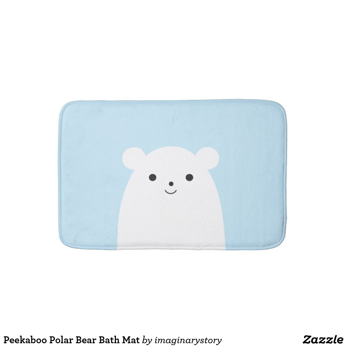 Peekaboo Polar Bear Bath Mat Zazzle Com Polar Bear Personalized Bath Mats Small Bath Mat