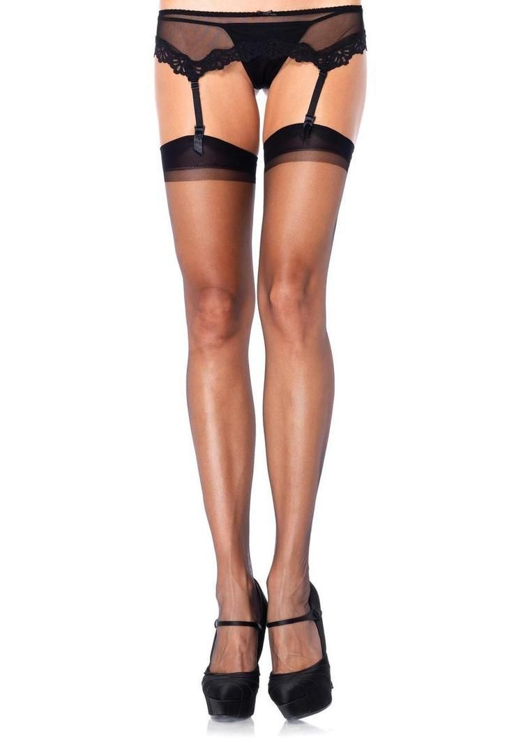 Sheerly Sexy Robe Garter Belt & Stockings Included 5 piece