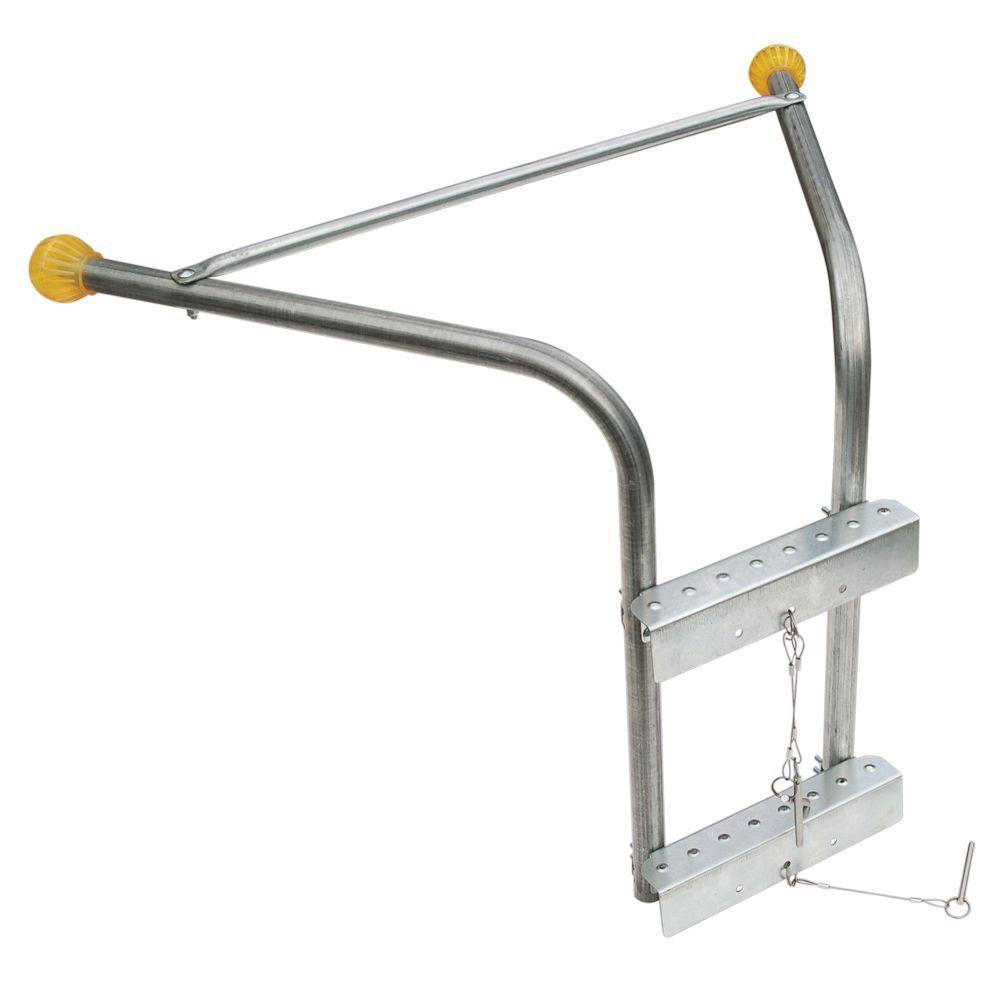 Roof Zone Tranzsporter Platform Hoist Stabilizer 48599 The Home Depot In 2020 Ladder Stabilizer Ladder Standoff Ladder Accessories
