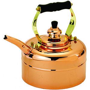 Old Dutch Copper Windsor Whistling Tea Kettle 3 Qt
