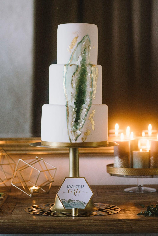 Hochzeitstorte Edelstein Kristall Geodecake Heike Krohz Weddingcake
