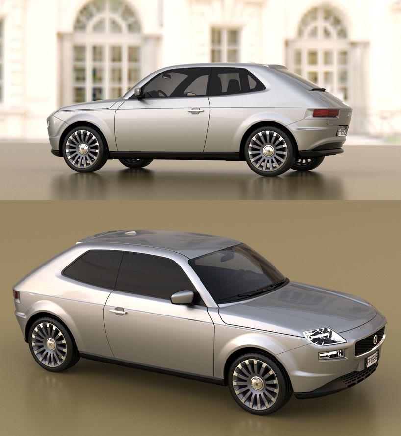 A Tribute To Pio Manzu Fiat 127 Concept By David Obendorfer Con