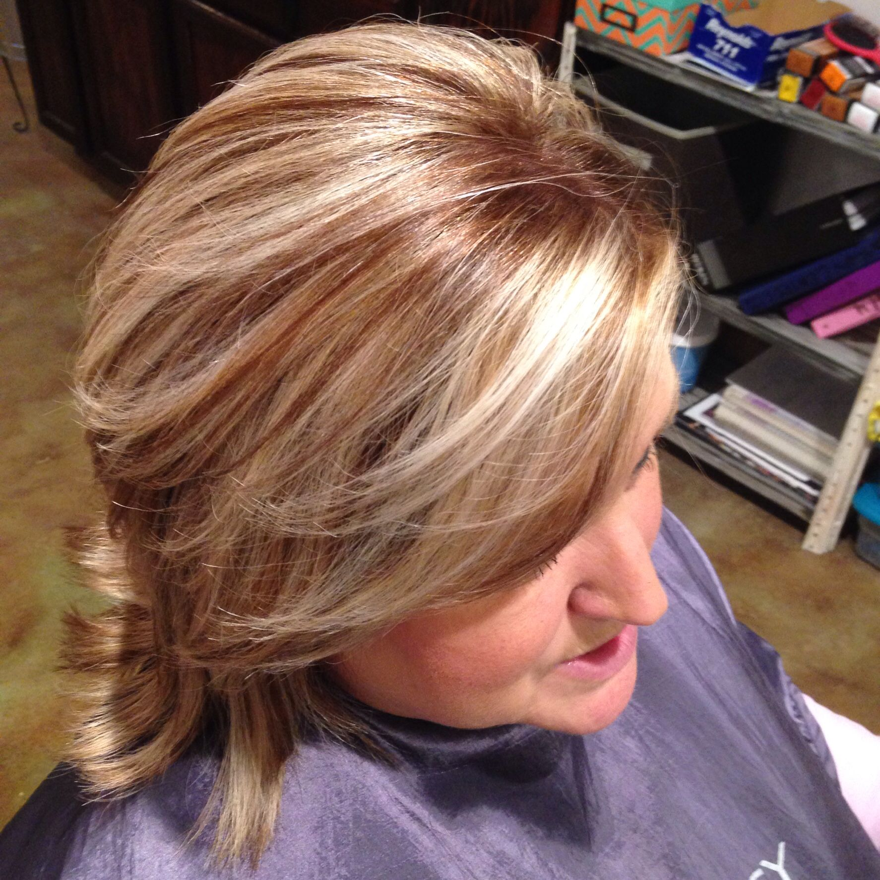 Grey Coverage With Highlights And Lowlight Grey Hair With Red Highlights Blonde Hair Colour Shades Hair Color Auburn