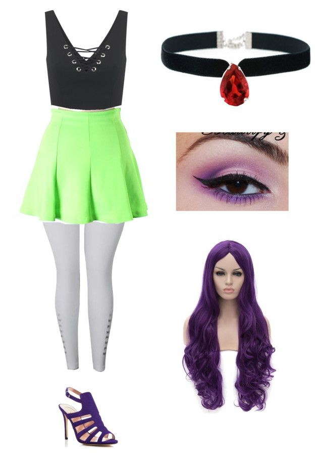 """Aria Blaze outfit #2"" by karymme123 ❤ liked on Polyvore featuring Miss Selfridge, Hype, SJP, Rock 'N Rose and Allurez"
