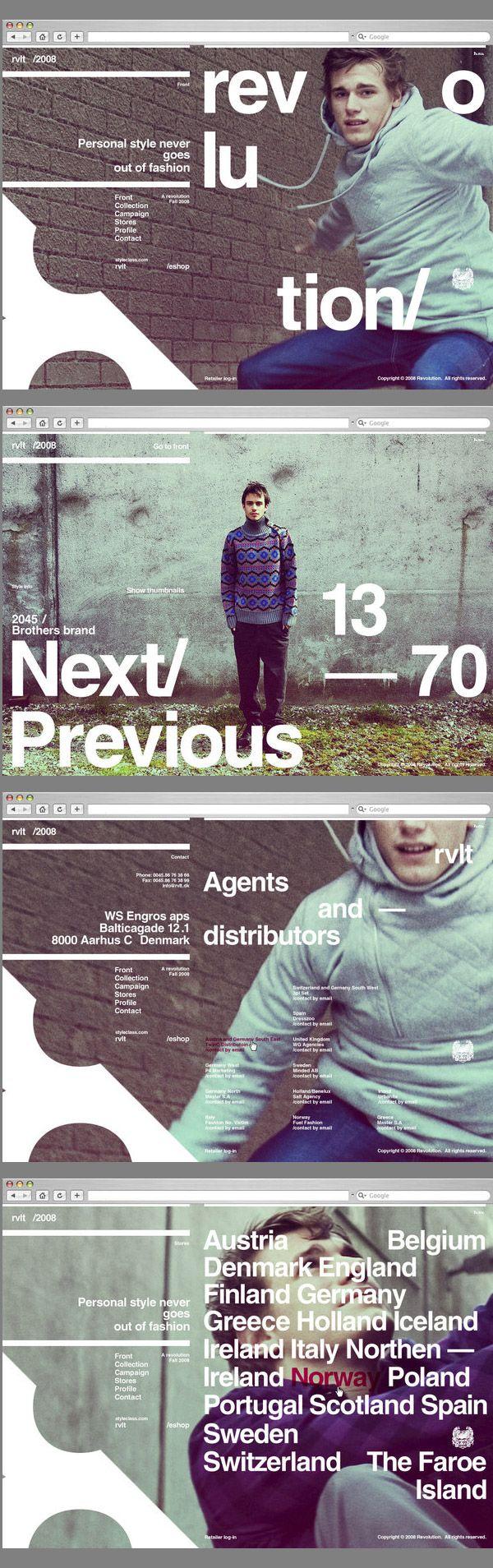 #web, #typo  http://www.behance.net/gallery/RVLT-Website-design/158755