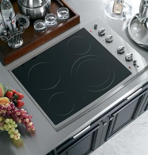Ge Profile Cooktop With Manual Controls 1000 Electric Cooktop Kitchen Cooktop Stainless Steel Cooktop