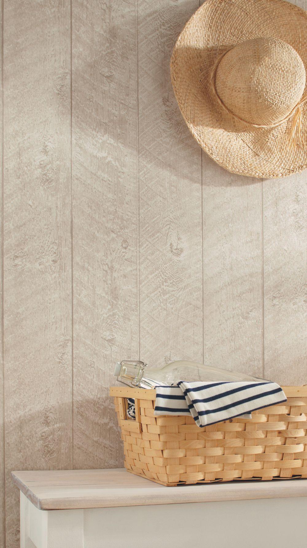 planches de lambris patin es papier peint bord de mer. Black Bedroom Furniture Sets. Home Design Ideas