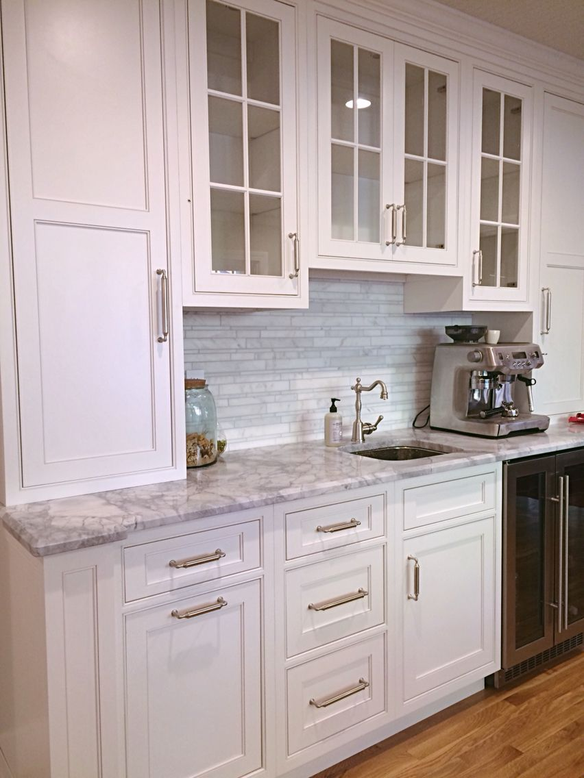 our finished kitchen reno white custom beaded inset cabinets super