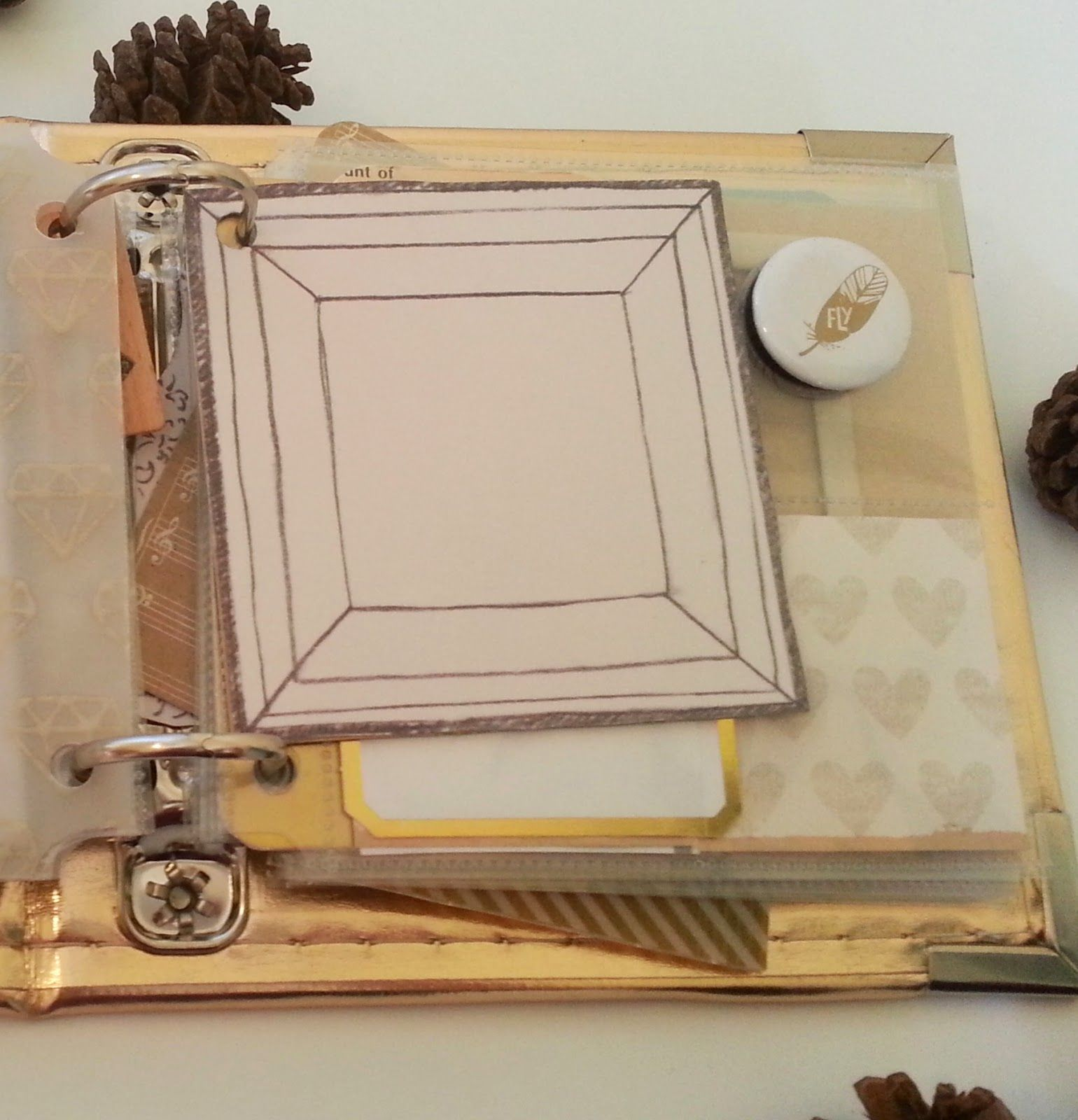 gold and white december daily