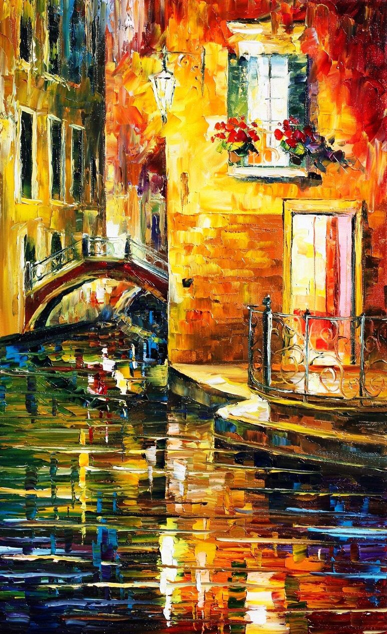 Venice oil painting - Secrets Of Venice — venice painting on canvas ...