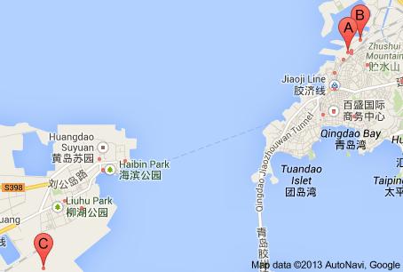 port qingdao map My trip to Qingdao Pinterest Qingdao