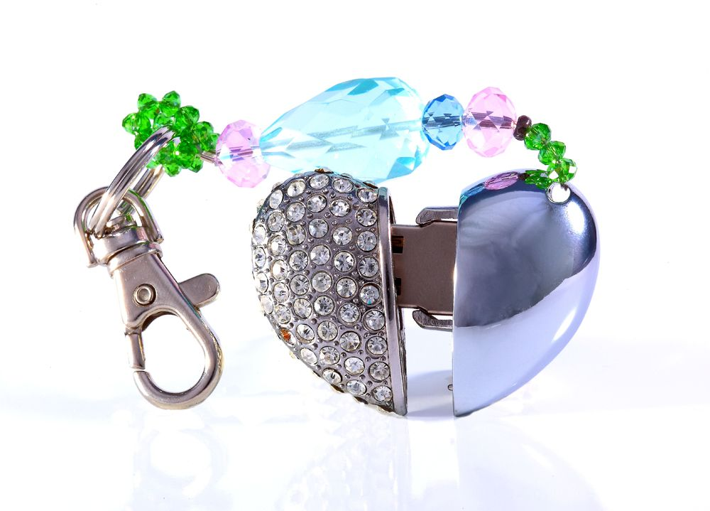 Mango Frooty designer Silver Heart 4GB Flash Drive Key Chains
