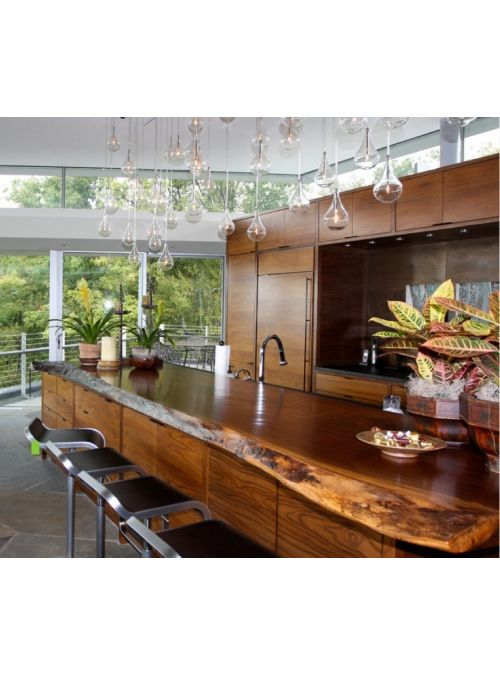Top piano da cucina in legno massello, lavorato a mano dai ...