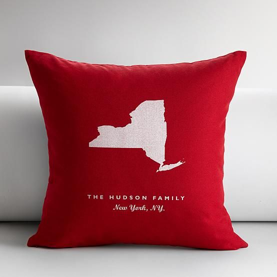 States Throw Pillow Cover State Throw Pillows Personalized Pillows Throw Pillows