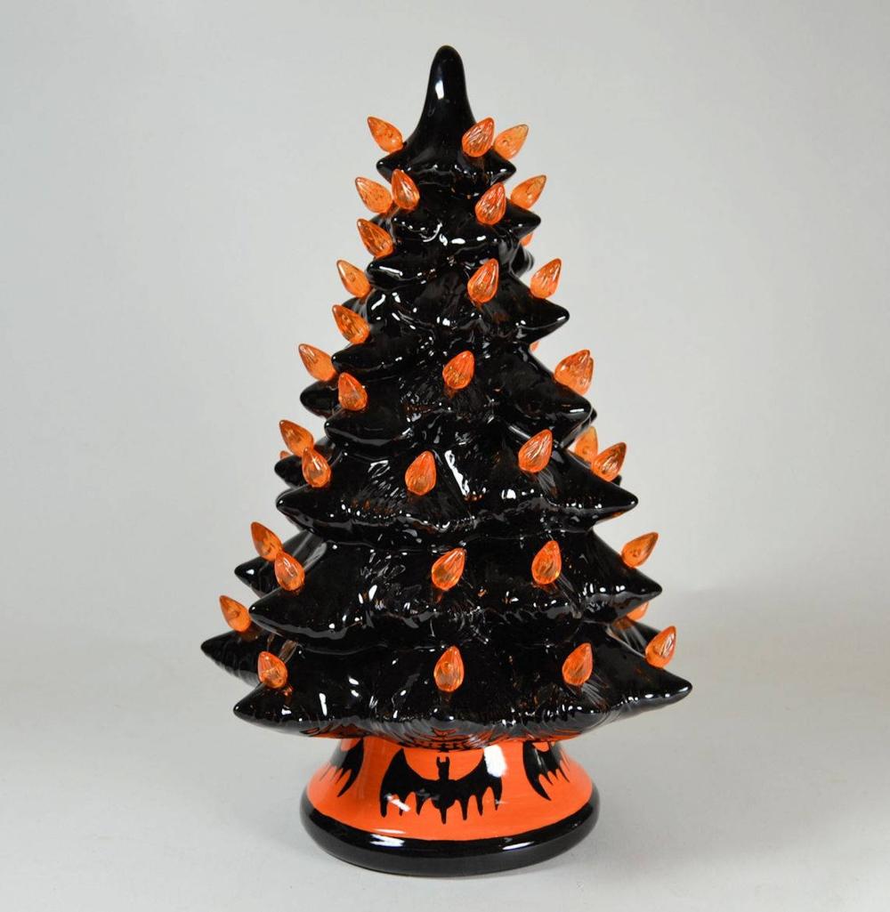 Halloween Lighted Black Ceramic Tree made to order 2 weeks