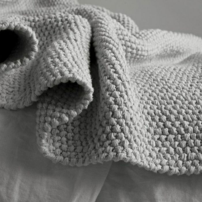 Decken Häkeln Grau Und Weich Resized