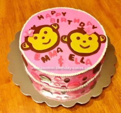 Coolest Twins Birthday Cake Twin girls Birthday cakes and Twin