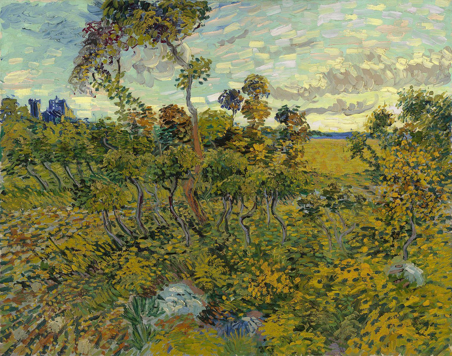 Archivo:Sunset at Montmajour 1888 Van Gogh.jpg