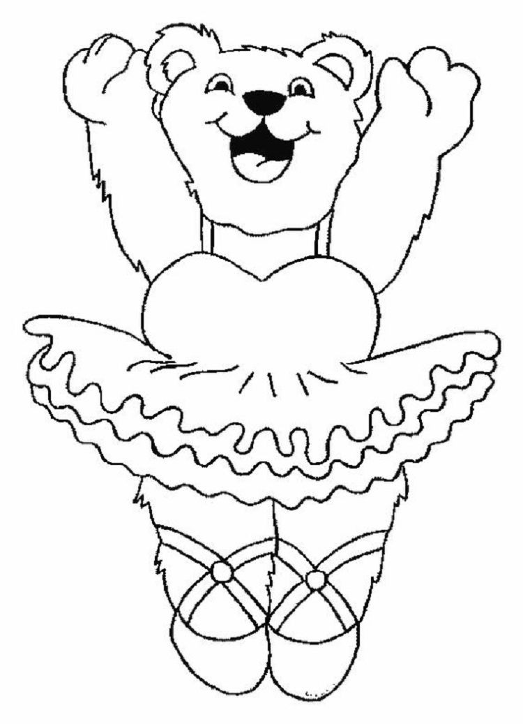 Teddy Bear Ballerina Coloring Pages Ballerina Coloring Pages