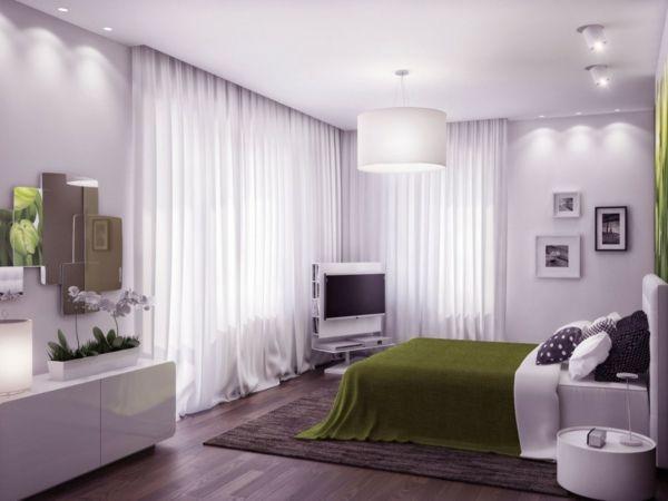 feng shui einrichten schlafzimmer bett holzboden gardinen ideen, Schlafzimmer