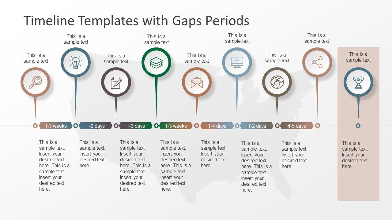 Timeline Templates With Gaps Periods  Timeline And Template