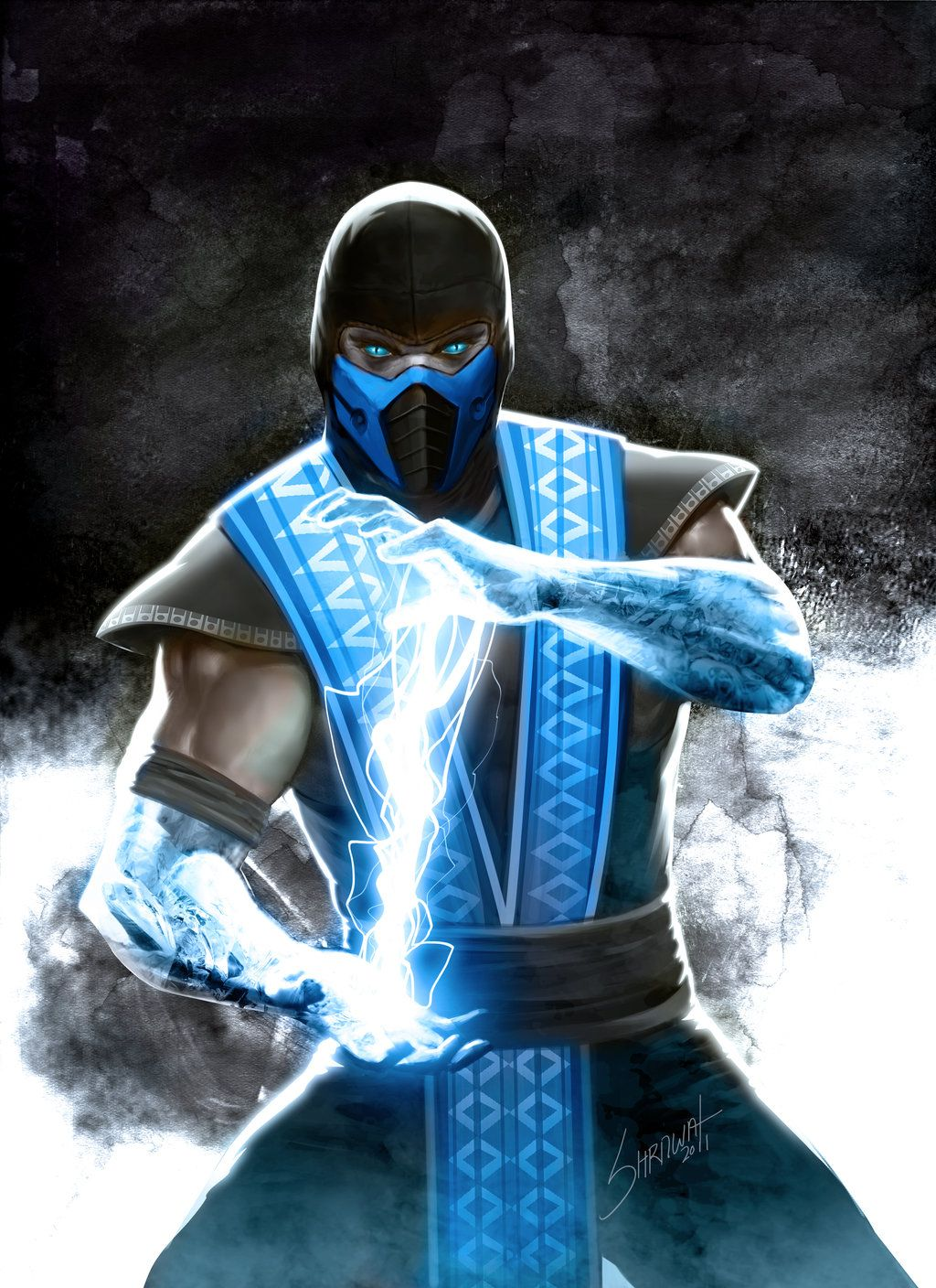 Mortal Kombat Sub-Zero by SHERAWAT deviantart com on