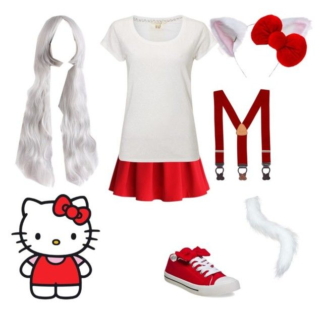 """""""Hello Kitty #2"""" by zozo-chan ❤ liked on Polyvore featuring Chicwish, Hello Kitty, White Stuff, Brooks Brothers, Wet Seal and CO"""