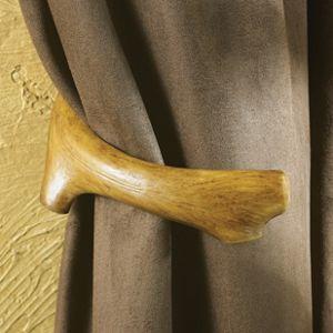 Antler Curtain Tiebacks Set Of 2 Curtain Tie Backs Rustic