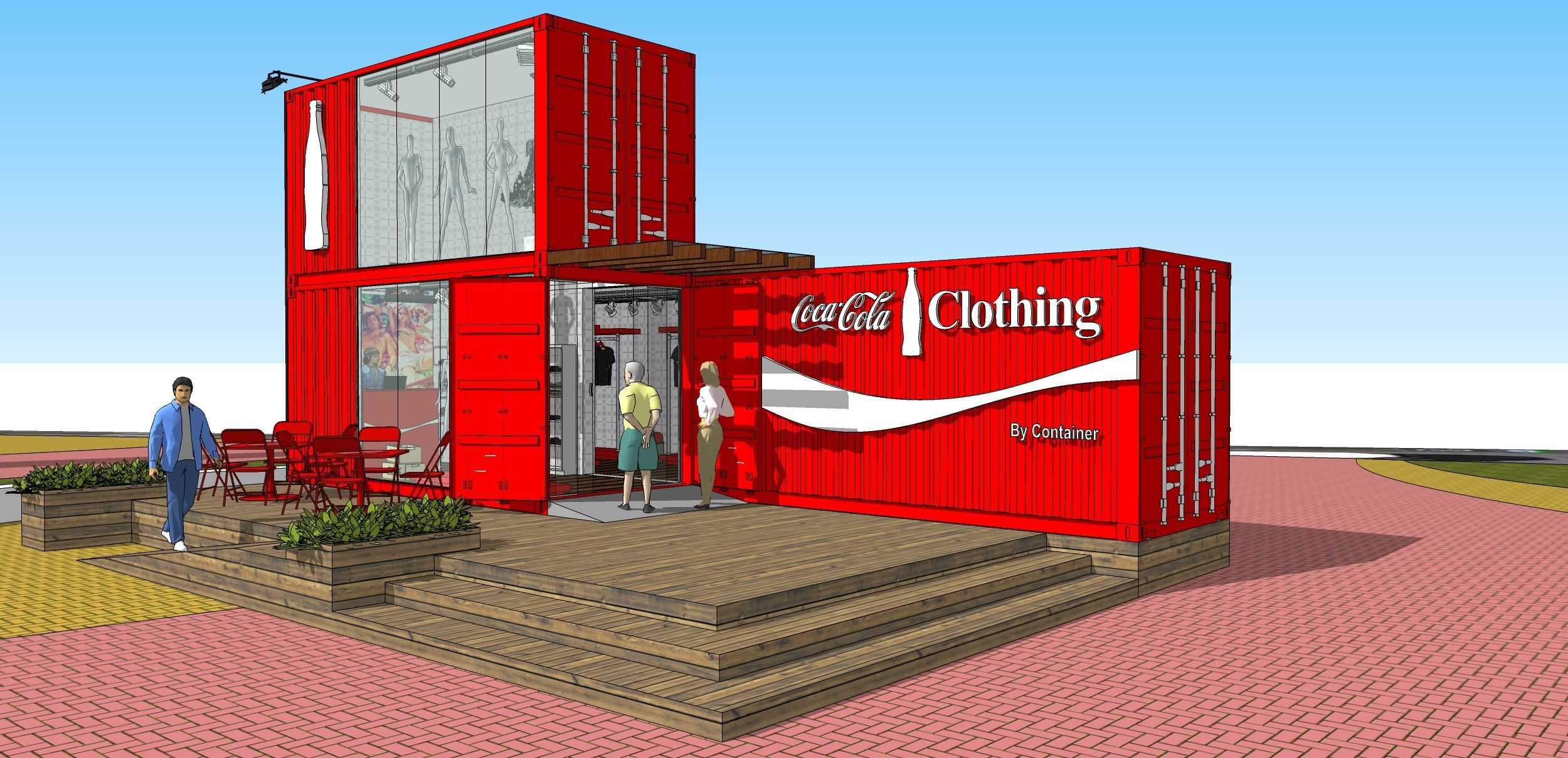 Shipping Container Projects coca-cola clothing vonpar   others: sketches and projects in