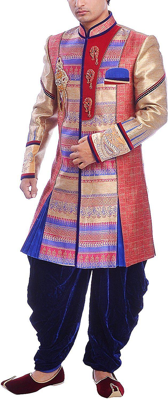 Image result for multi color brocade sherwani