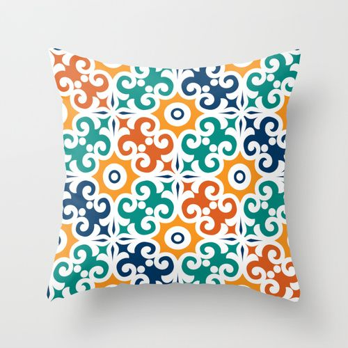 Spanish Tile Throw Pillow For The Home Spanish Tile Pillows