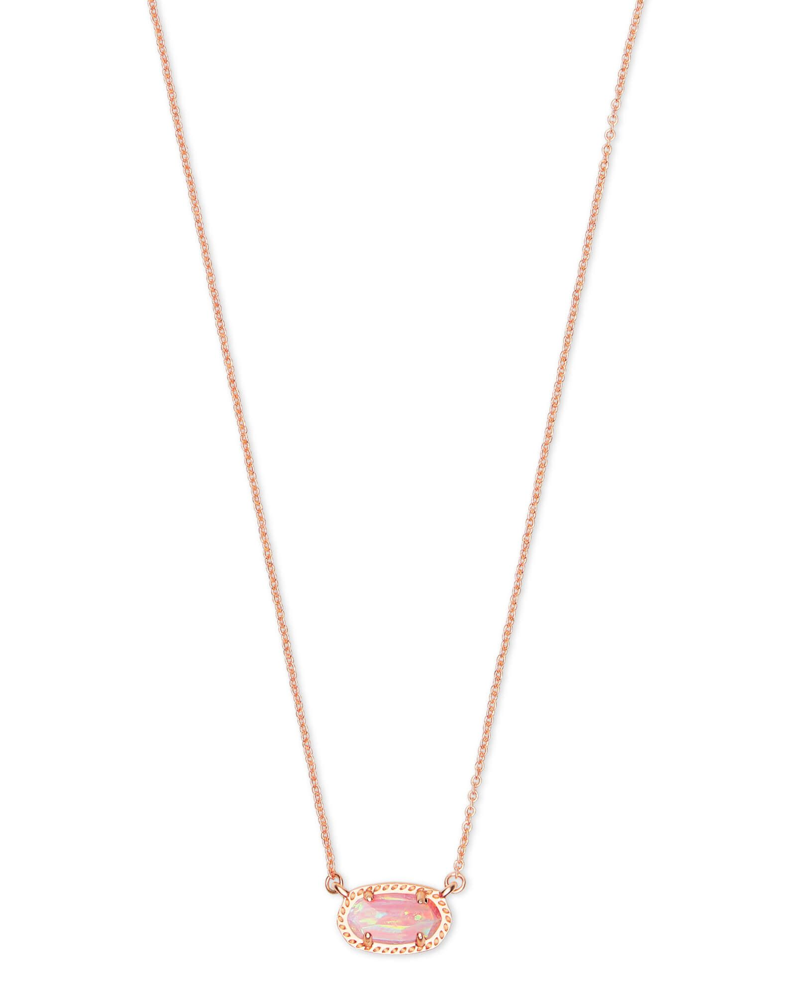 Get The Ember Rose Gold Pendant Necklace In Light Pink Opal For A Delicate Chain That Elavates Minima Rose Gold Pendant Necklace Rose Gold Pendant Gold Pendant