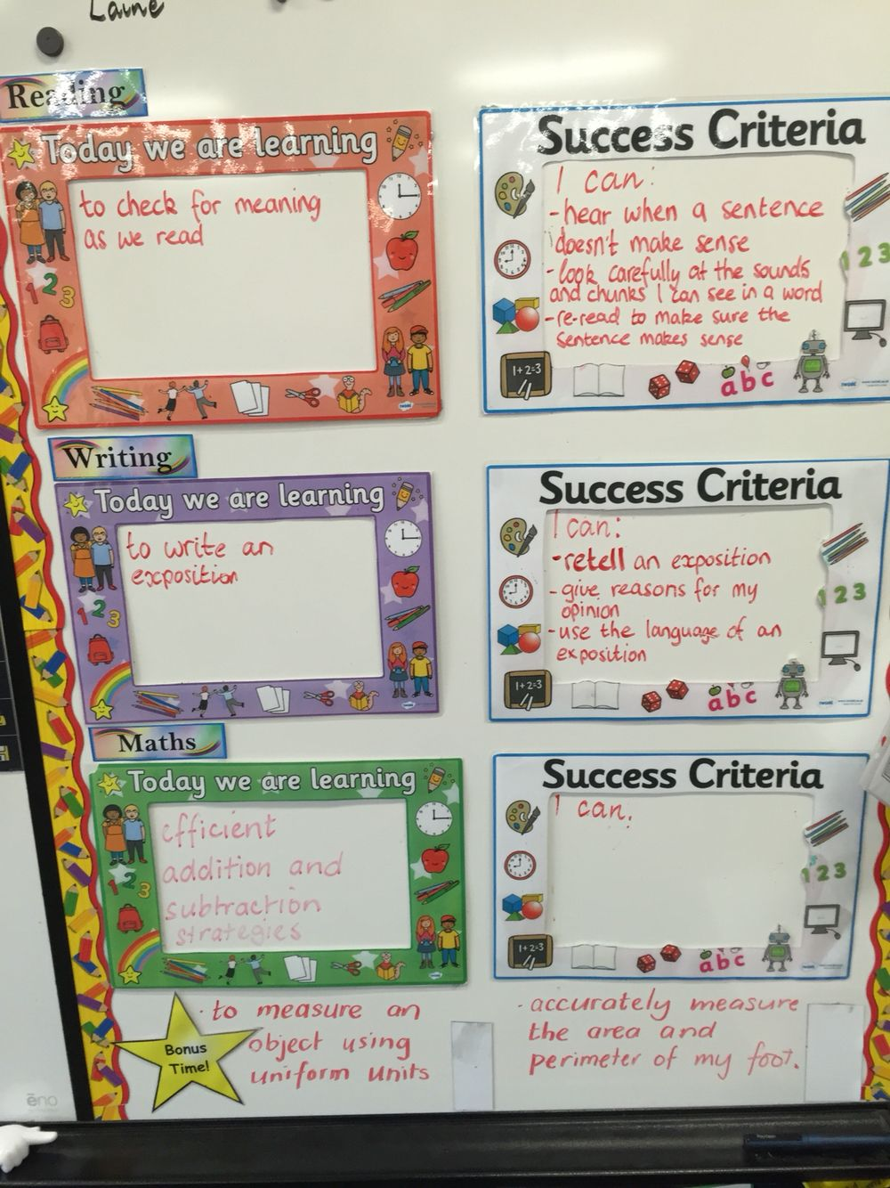 Learning Intention and Success Criteria boxes … | SIOP | Learn…