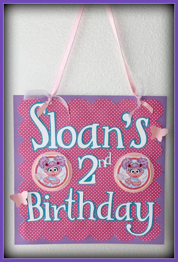 Abby Cadabby Birthday Door Sign pink by AdrisPaperPerfection $15.00  sc 1 st  Pinterest & Abby Cadabby Birthday Door Sign pink by AdrisPaperPerfection $15.00 ...