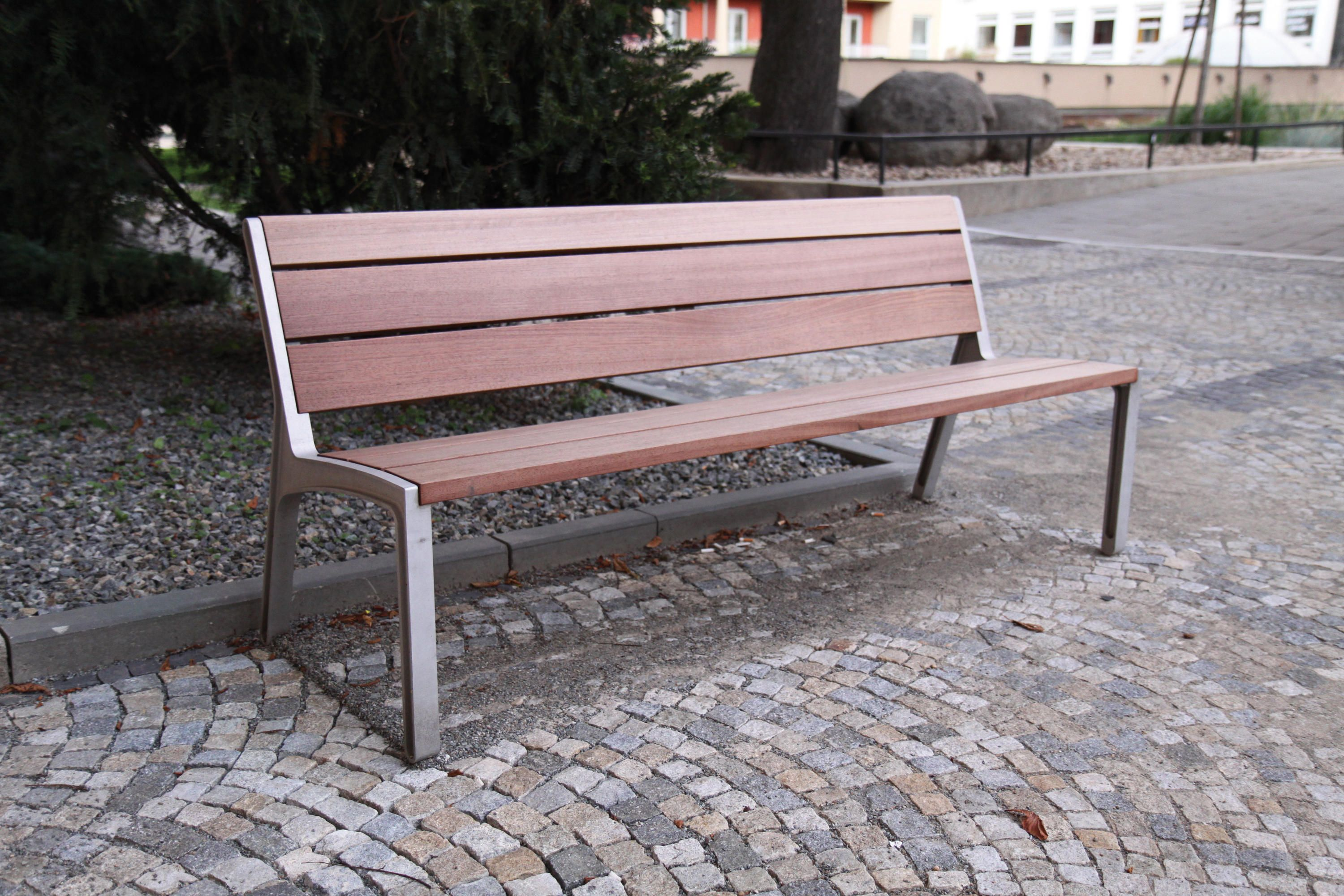 Park Bench With Backrest Aluminium Alloy Structure Seat